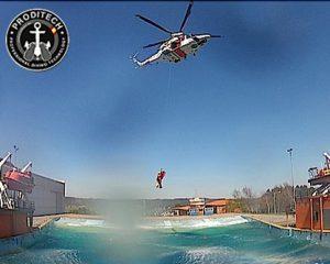 Proditech: prácticas helicóptero en Centro de Seguridad Marítima Jovellanos