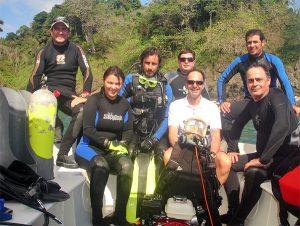 Alumnos y Docente Curso de Buceo Profesional del Gobierno de Costa Rica