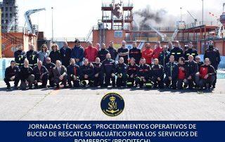 Jornadas técnicas procedimientos operativos de buceo de rescate para servicios de bomberos, en el Centro Jovellanos, Salvamento Marítimo Español