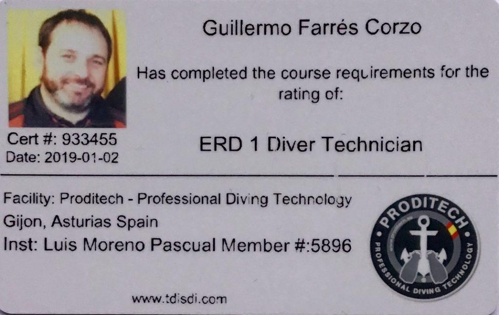 Formación Curso BUCEADOR DE RESCATE ERD 2 DIVER Technician