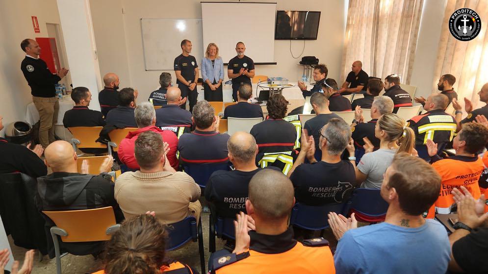 Ponentes de las Jornadas de Rescate Subacuático Bomberos Marbella