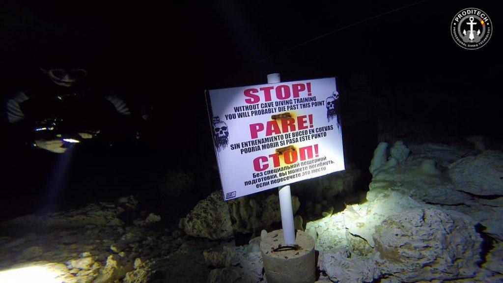 Advertencia de la necesidad de Formacion en cuevas, en el sistema de Cuevas El Chico (República Dominicana)